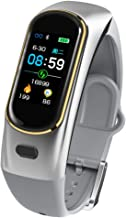 ZMDHLY Walkie-Talkie Smart Bracelet Wireless Bluetooth Call Headset with Heart Rate Monitor Talk Band,Gray