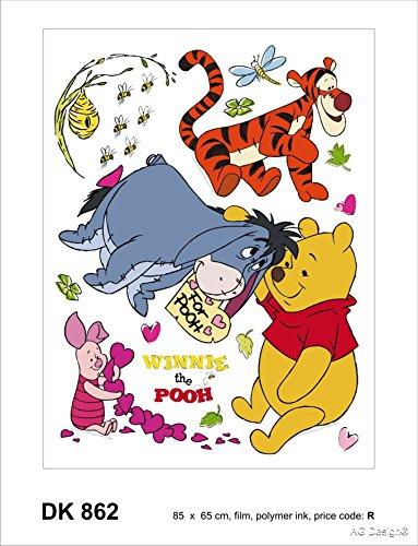 Disney Winnie l'ourson Décoration Sticker Adhesif Mural Géant Répositionnable