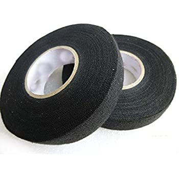 Amazon Com Adecco Llc 2 Rolls Wire Loom Harness Tape Wiring Harness Cloth Tape Adhesive Fabric Tape For Automobile 15m 19mm Office Products