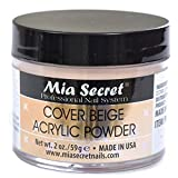 Mia Secret Cover Beige Acrylic Powder 2 Oz by Mia Secret