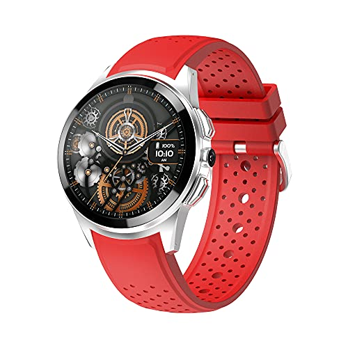 Reloj inteligente 4G Android 9.1 Smartwatch con pantalla táctil de 1.3 pulgadas 2MP Cámara ranura para tarjeta SIM WiFi GPS Monitor de sueño ritmo cardíaco Modos multideporte Actividad Tracker (rojo)
