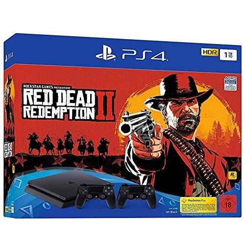 Playstation 4 Slim Konsole PS4 Slim 1TB + Red Dead Redemption 2 + 2. DS4