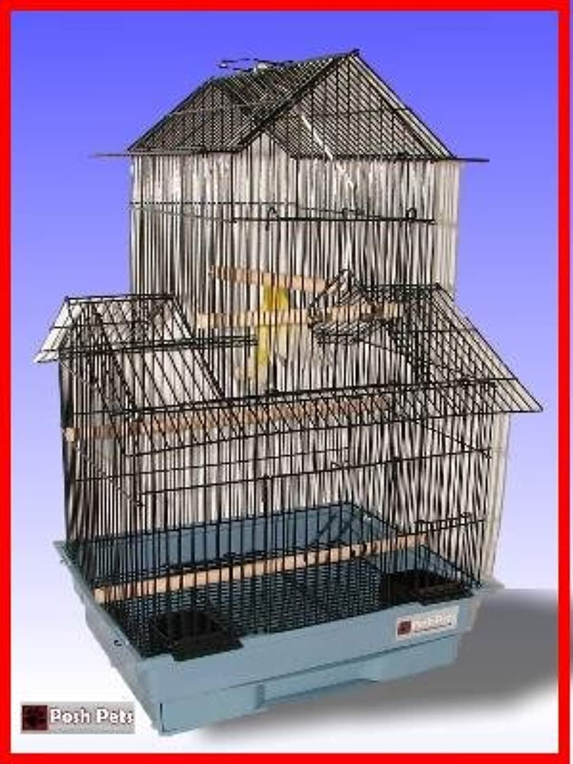 BIRD CAGE pink BUDGIES CANARY FINCH CAGES INCLUDING SWING