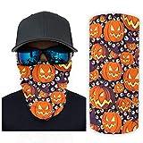 chvcodd Bufanda mágica Halloween calabaza naranja Headwear Bandana cuello polaina cabeza abrigo pasamontañas para la caza y un mejor regalo para amigo blanco onesize