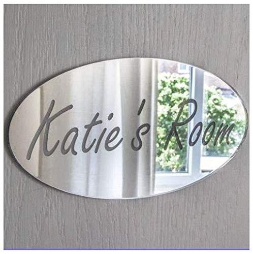 Placa con nombre para la puerta del dormitorio, personalizable