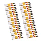 YeVhear PH Bandas de prueba 1-14 indicador de papel laboratorio comprobador de girasol 80in1 Kit para agua alimentaria piscina acuario prueba ácido alcalino 20 piezas