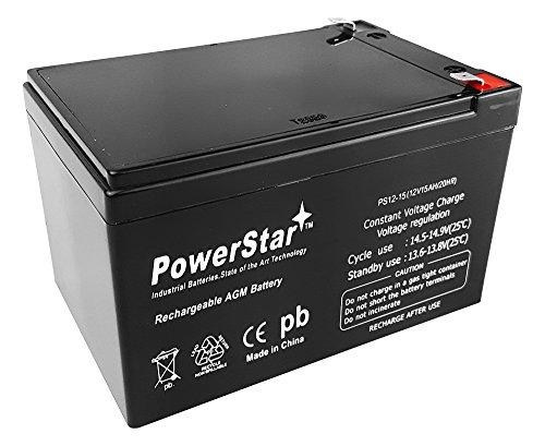 PowerStar12V 15ah SLA Replacement Battery for Kid Trax Fire Truck (KT1003) Riding Car