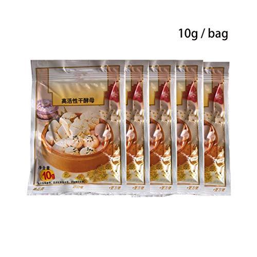 planuuik 5 Sacchetti 50g di Pane per Dolci Lievito Secco istantaneo Altamente Attivo per Cucina Cottura Cottura Panini al Vapore Baozi Mantou Ingredienti Materiale Forniture