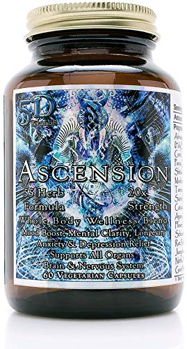 5D Ascension Blend - 55 Herbs (60 Veg Capsules) | 20X Strength, Mood Boost, Mental Clarity, Anxiety & Depression Relief, Weight Loss