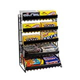 5-Tier Candy Counter Display Rack in Black - 15 W x 9 D x 21 H Inches