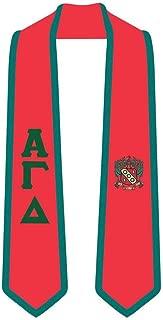 Alpha Gamma Delta Greek 2 Tone Lettered Graduation Sash Stole