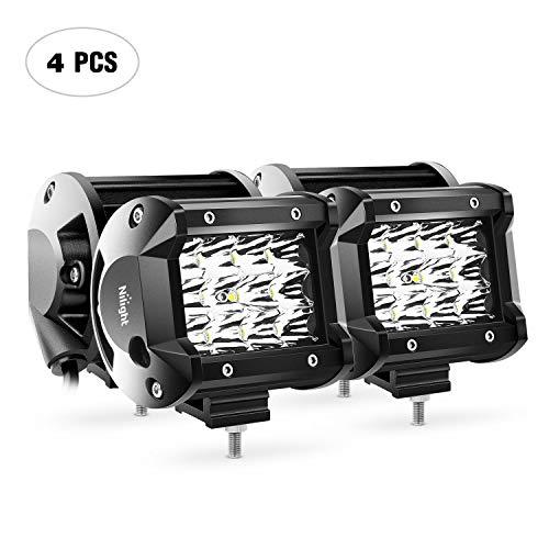 Nilight - 18001S-D 4PCS 4Inch 36W Triple Row Spot LED Light Bar 3600LM Driving Lights Fog Light Led Off Road Lights for Trucks Jeep UTV ATV Marine Boat,2 Years Warranty