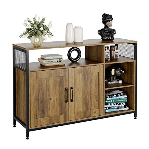 Aparador Buffet Vintage Mueble Aparador para Salón Cocina Comedor Entrada Armario para Almacenamiento con 2 Puertas de...