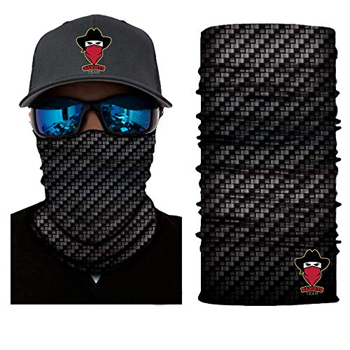 Bandits Team I Bedrucktes Multifunktionstuch I Face Shield aus Mikrofaser- fürs Motorrad-, Fahrrad- und Skifahren I Farbe: Carbon I 1er Pack