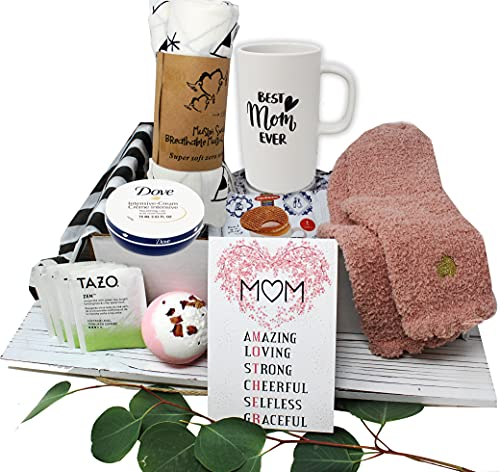 New MOM gifts for women, Care package / Gift basket idea, Mom who just gave birth or mother to be or for a Baby Shower, Pregnancy or After surgery, Postpartum gift box, w/ Personal Care