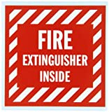 Brady 47175 Prinzing Vinyl Label Fire Extinguisher