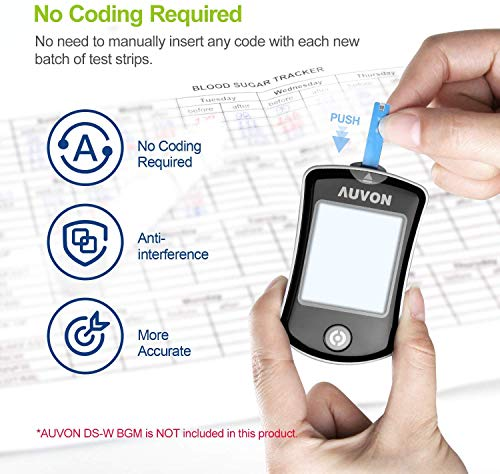 buy  AUVON Blood Glucose Test Strips (100 Count) for ... Blood Glucose Monitors
