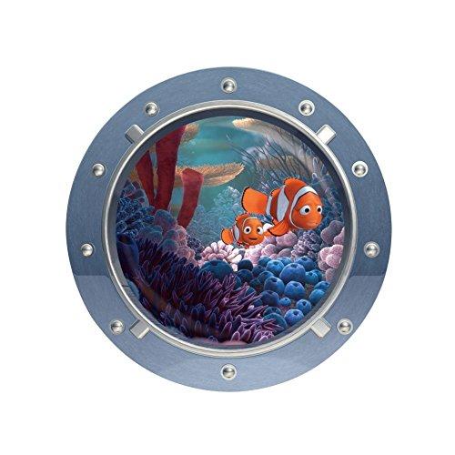 Clest F&H Submarine Marine Animals Shark Living Room Bedroom Vinyl Removable Wall Sticker Decals 43cm*43cm