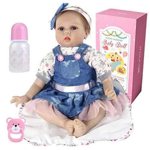 22inch 55cm Reborn Babys Madchen silikon lebensechte Puppen Kinder Spielzeug Toddler Augen offen Junge