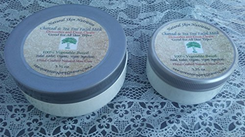 Charcoal & Tea Tree Facial Mask-Hand Crafted Natural Vegan Skin Care