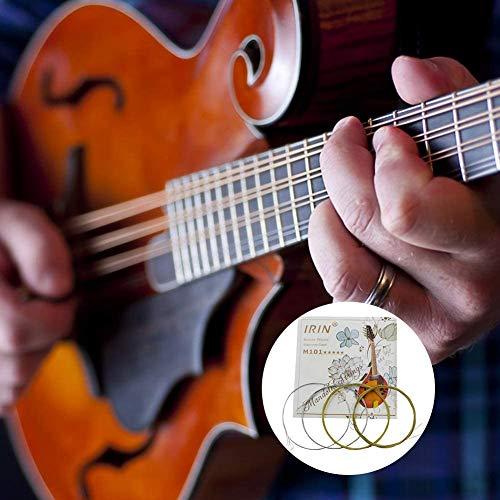 DINEGG Spielzeug M101 Mandolin Saiten Satz versilbert Edelstahl Kupfer-Legierung Wound QQQNE