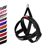 EzyDog Quick Fit Dog Harness - Premium Padded No-Pull Harness, Black, Medium