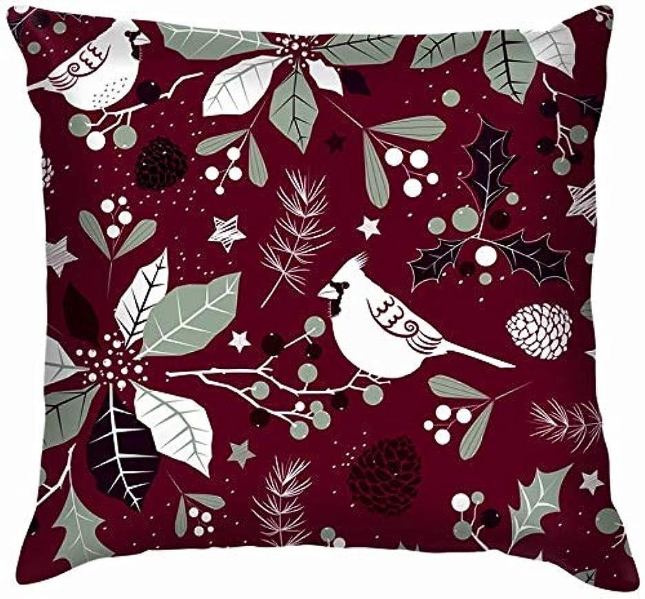 交差点光景フィッティング冬の休日様式化された花は枕カバーを投げます家のソファーのクッションカバー枕ギフト45x45 cm