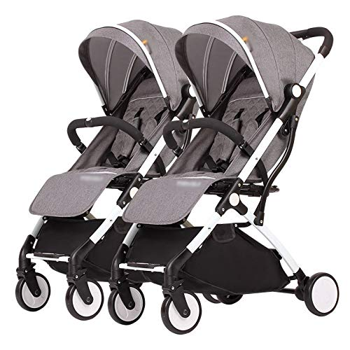 Buy LQRYJDZ Twin Baby Stroller, Detachable Foldable Lightweight,5-Point Safety Harness,Detachabl...