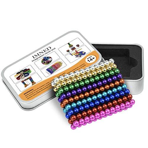DYRDM Magnetic Building 216PCS 5mm 9 Colors Magnets Fidget Gadget Toys Rare Earth Magnet Office Desk Toy Games Magnet Toys Stress Relief Toys