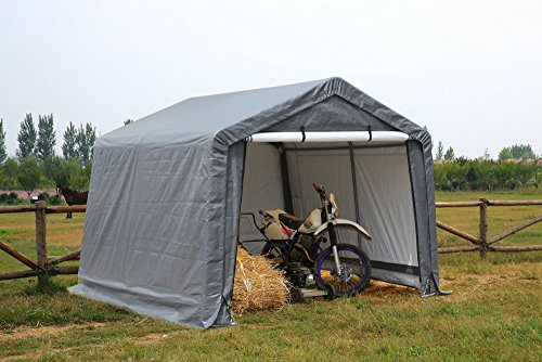Gino Development, Inc. ATV Shelter, Mini Portable Garage,Grey, 6 Leg...