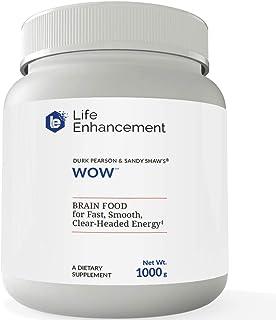 Life Enhancement Wow Drink Powder | Brain Food for Fast, Smooth, Clear-Headed Energy | with B12, Niacin, Caffeine, Taurine...