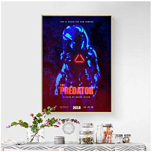 A&D The Predator Hot Klassische Horrorfilm Kunst Malerei Seide Leinwand Poster Wand Wohnkultur-50x70 cm Kein Rahmen