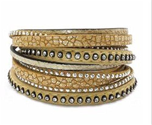 Ty-BLACK1 Fashion tow wrap armbanden kronkelende armband Boheemse armbanden&pony