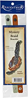 Leathercraft Bracelet Kits – Customizable Leather Cowhide Bracelets – 2-Piece Kits Available in 2 Varieties (Mystery Braid Kit)