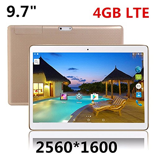 4G LTE Android 6.0 Tablets PC Tab Pad 9.7 Inch IPS 2560X1600 MTK Quad Core 2GB RAM 64GB ROM Dual SIM Card 4G Phone Call 9.7