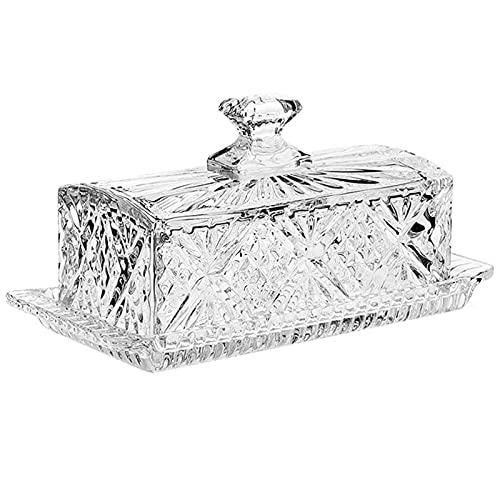 Mantequilla de cristal con tapa ideal para manteca artesanal, manteca y mantequilla
