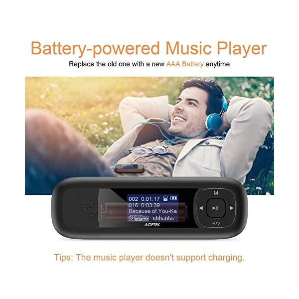 8GB MP3 Player, Music Player with USB Flash Drive, Recording, FM Radio, Supports up to 32GB, Black … 6