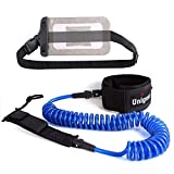 Unigear Premium SUP Leash 10' Coiled Stand Up Paddle Board Surfboard Leash Stay on Board with...