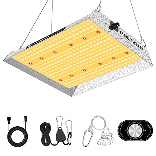 Phlizon Upgrading 1000W Dimmable Plant LED Grow Light Full Spectrum Grow Lamp for Indoor Plants Waterproof Zero Noise Growing Light for Hydroponic Veg and Bloom 2.5x2.5ft Coverage
