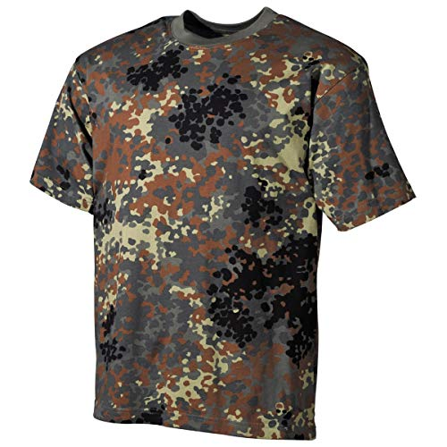 MFH 00103V US Army Herren Tarn T-Shirt (Flecktarn/L)
