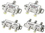 2 WAY 3 WAY 4 WAY + EXTRA 2 WAY- EXTREME HD DIGITAL 1GHz HIGH PERFORMANCE COAX CABLE SPLITTER - BDS102H BDS103 BDS104h