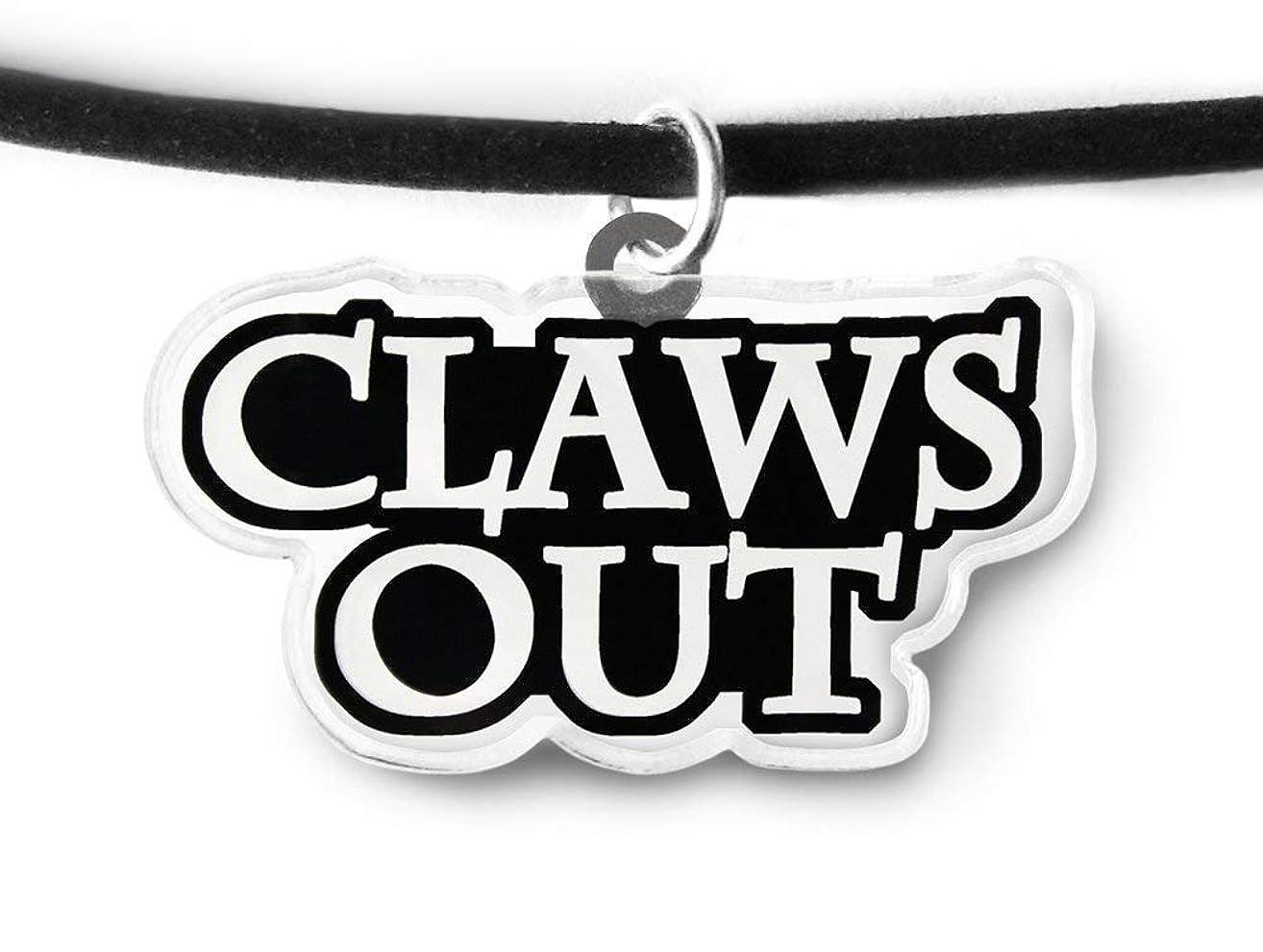 Claws Out Charm Choker - Punk Rock, Aesthetic, Goth Choker, Pastel Goth, Soft Grunge, Punk Rock Fashion