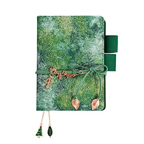 Cuadernos libro Notebook, Enc 4x4 Gráfico Papel gobernado, 100 hojas, 8.9 x6.5' , por mejores productos de oficina, cubiertas en color, diseñado for viajes premium de Papel grueso (Color: Plata calien