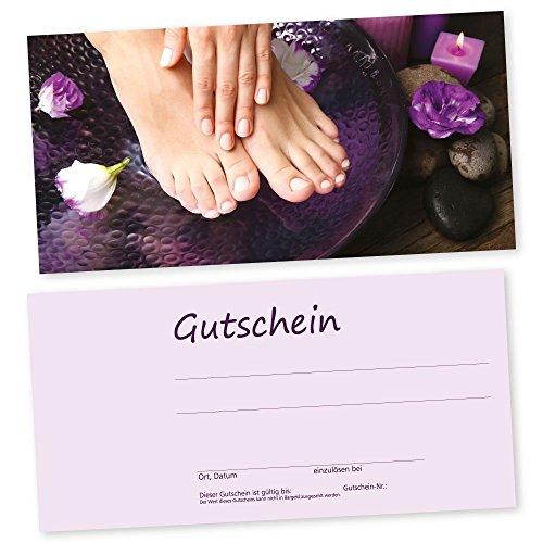 50 Fußpflege-Nagel-Gutscheinkarten HAND & FUß Gutscheine, Geschenkgutscheine
