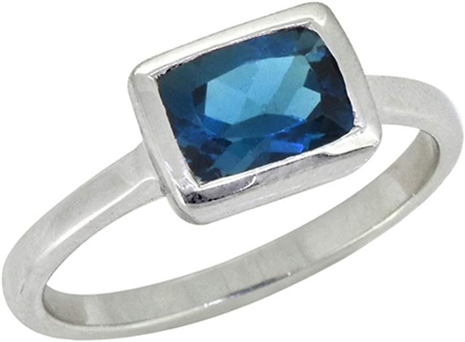 YoTreasure Al sold out. Manufacturer OFFicial shop 1.74 ct London Blue Topaz Solid Ring Sterling Silver