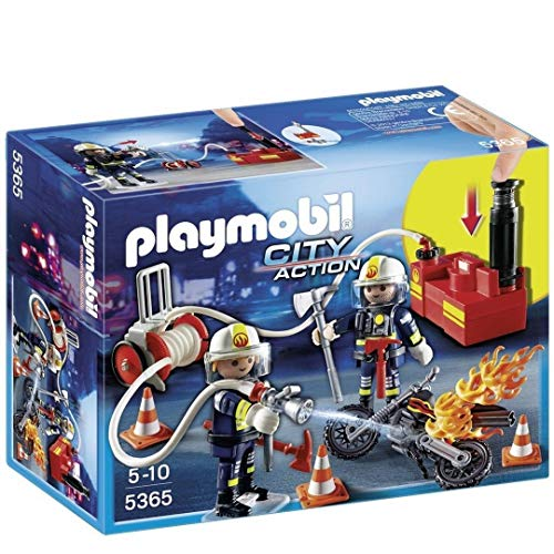 Playmobil City Action Firefighters with Water Pump 2 Baufiguren - Baufiguren (Mehrfarbig, Playmobil, 4 E5 – 10, Kind, 2 Stück (S))