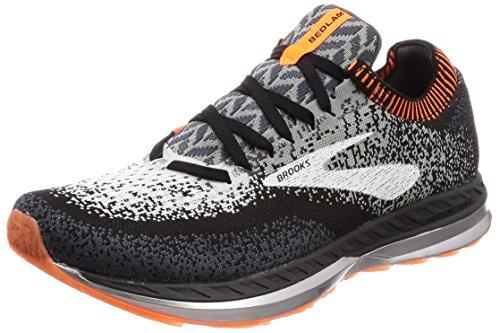 Brooks Mens Bedlam Running Shoe - Black/Grey/Orange - D - 12.0