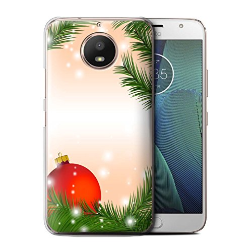 Stuff4®® Phone Case/Cover/Skin/Moto de CC/Christmas Decorations Collection Kugel/Baum Motorola Moto E4 2017