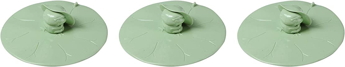 UgyDuky 3 Pack Green Frog Shape Silicone Floor Drain Cover Drain Hair Catcher Silicone Drain Protector Shower Drain Hair T...