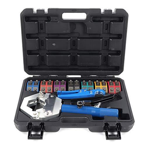 Fydun Kit de engarzadora de manguera hidráulica de mano para aire acondicionado Manguera de aire acondicionado automática manual portátil Herramienta para prensar accesorios